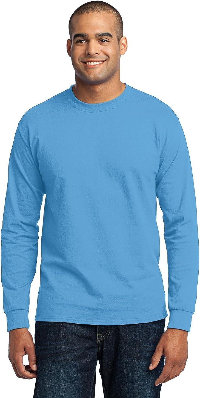 Port & Company Men's Tall Long Sleeve 50/50 Cotton/Poly T XLT Aquatic Blue