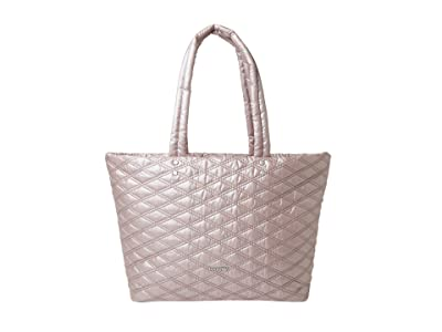 Baggallini Quilted Tote (Rose Metallic) Handbags