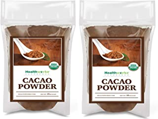 Healthworks Cacao Powder (32 Ounces / 2 Pounds) (2 x 1 Pound Bags) | Cocoa Chocolate Substitute | Certified Organic | Suga...