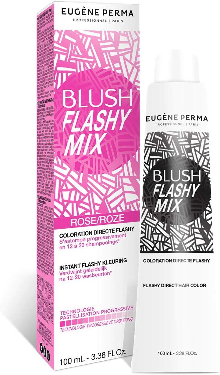Eugene Perma Professionel Blush Flashy Mix - Coloración directa flashy/pastel rosa sin amoniaco/peróxido, se elimina con 12-20 lavados, lote de 2