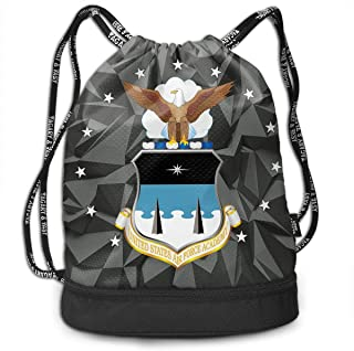United States Air Force Academy Bundle Backpack Funny Drawstring Bags