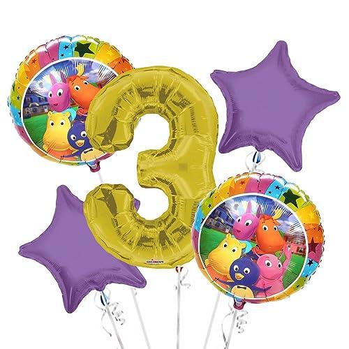 Backyardigans Balloon Bouquet 3rd Birthday 5 Pcs