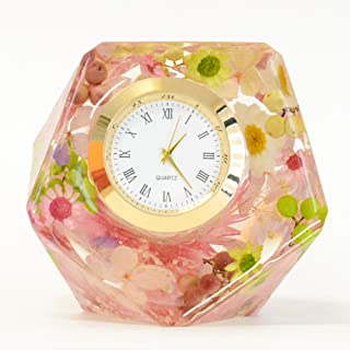 Lulu's ルルズ ハーバリウム 花時計 Flower clock ダイヤモンドクロック プリザーブドフラワー ドライフラワー サイズ:幅約7cm×高さ約7cm×厚さ約7cm ダイヤモンドクロック Lulu's-1378