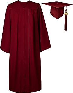 GraduatePro Graduación Toga y Birrete Universidad 2021 Bachillerato Adulto Disfraz Regalo Unisex Mujer Hombre 12 Colores