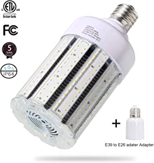 80W LED Corn Light Bulb Large Mogul Base E39 LED Bulbs AC100-277V 5000K Daylight LED Replacement 250w Metal Halide(HID HPS CFL) light bulb for Street and Area Light Industrial Commercial Factory Works