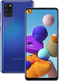 """Samsung Galaxy A21S (64GB, 4GB) 6.5"""", Quad Camera, All Day Battery Dual SIM GSM Unlocked Global 4G LTE Volte (T-Mobile, AT..."""