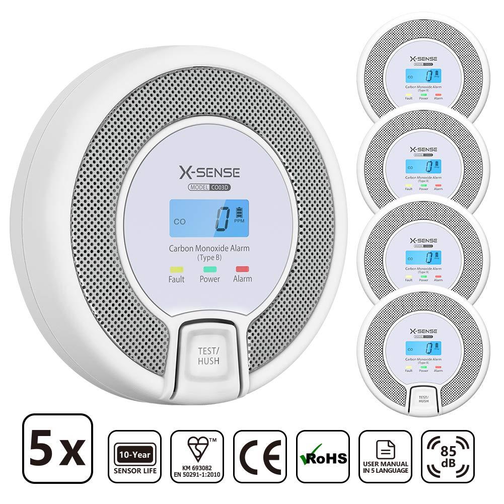 X-Sense Co Melder Mit Digitalanzeige Kohlenmonoxidmelder Akkurater Sensor Mit