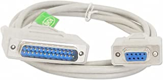 Your Cable Store 6 Foot DB9 Female / DB25 Male Serial Port Cable RS232