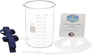 Purelife Glass Enema Bucket Kit - 2 Qt - Non Toxic Pyrex Glass - Best Coffee Enema Kit /100% Glass Spigot/No Plastic Parts