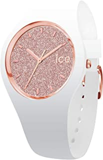Ice-Watch - ICE Glitter White Rose-Gold - Women's Wristwatch with Silicon Strap