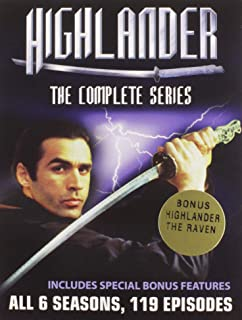 Highlander The Complete Collection 6 Seasons 119 Episodes- Plus Bonus