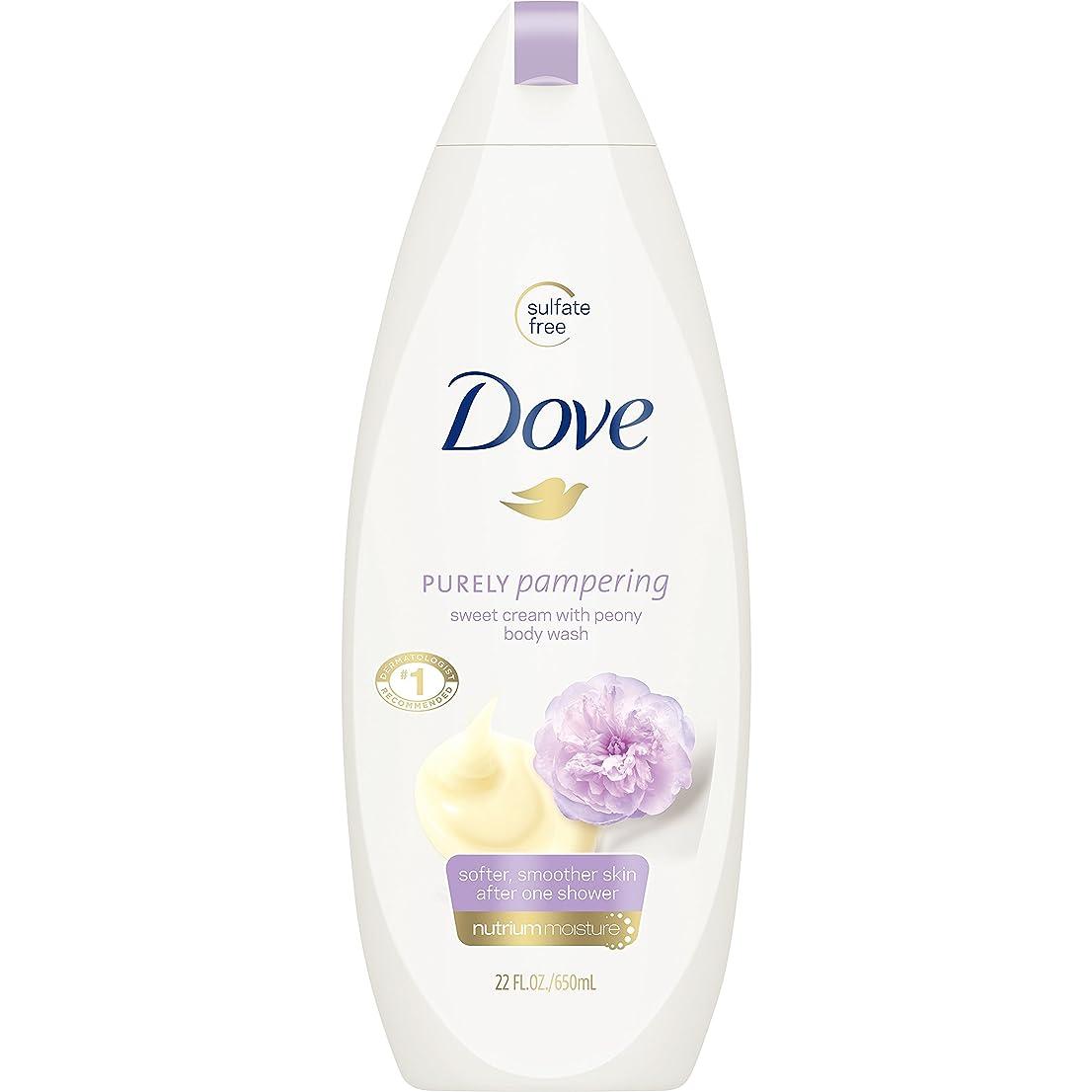 Dove 純粋にボディーウォッシュ、甘いクリームと牡丹22オズを甘やかします