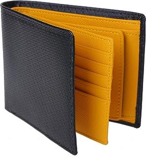 [レガーレ] カーボンレザー 二つ折り 財布 大容量 カードたくさん入る メンズ 本革 小銭入れ