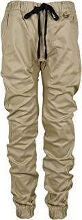 Youth Jogger Fit Stertch Twill Elastic Waist and Cuff Drop Crotch Pants (Runs Small)