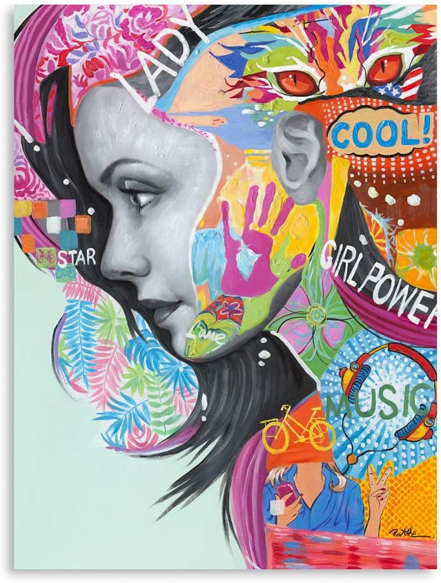 B BLINGBLING Posters for Reservation Girls Decor: Graffiti Portra Room 5 ☆ very popular Woman