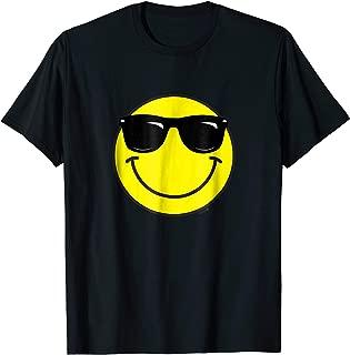 Sunglasses Wearing Smiley Face Emoji T-Shirt
