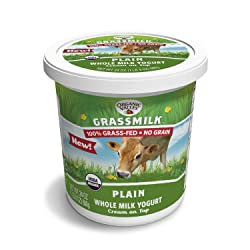 Organic Valley Grassmilk Whole Milk Yogurt, Plain, 24 Ounces