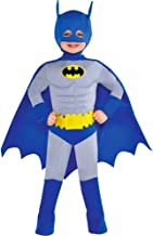 Suit Yourself Classic Batman Muscle Halloween Costume for Toddler Boys, The Brave and the Bold, 2T, Includes Accessories