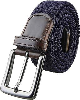 Shanxing Men's Belt Braided Elastic Fabric Webbing Belts for Men