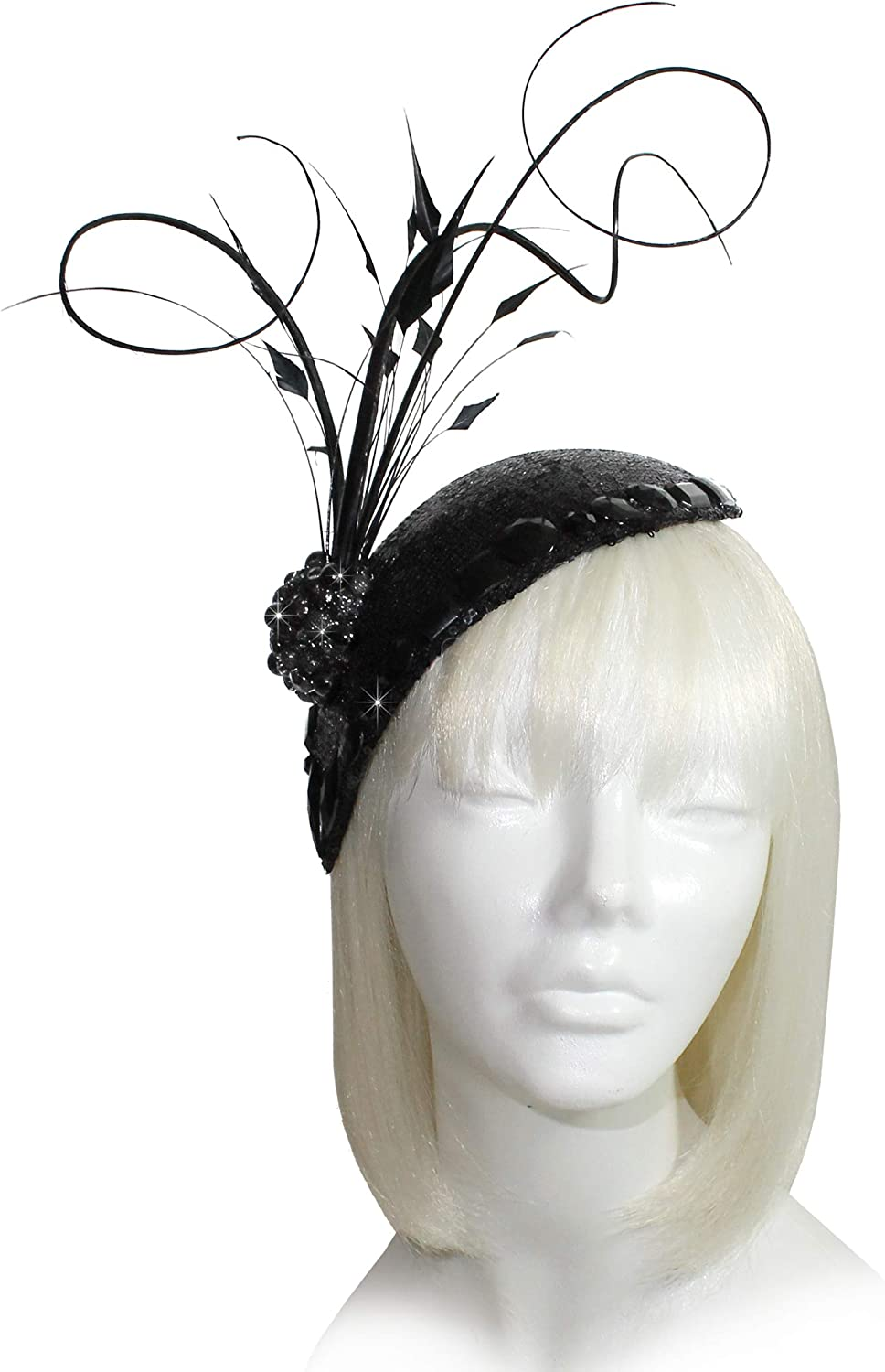 Mr. Song Millinery AllSeason Kentucky Derby Profile Petite Teardrop Fascinator  AF105