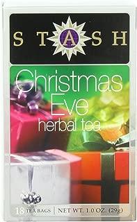 Stash Tea Christmas Eve Herbal Tea 18 Count Tea Bags in Foil (Pack of 6) Individual Spiced Herbal Tea Bags for Use in Teapots Mugs or Teacups, Brew Hot Tea or Iced Tea