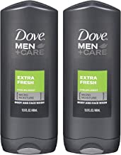 Dove Men+Care Body Wash, Extra Fresh 13.5 oz, Twin Pack