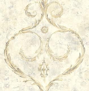 Damask Wallpaper Gold Purple Modern Design