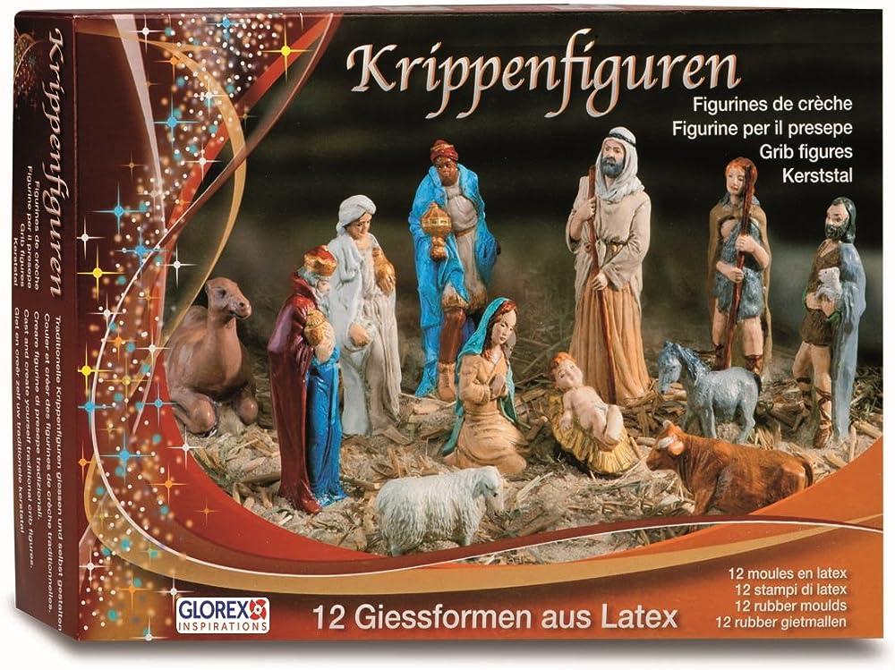 Glorex - set di 12 statuette per presepe in lattice Certified frustration-free