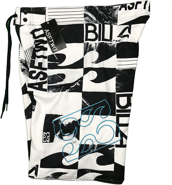Swim Trunks Men Short Black Board Shorts with Pockets No Mesh Linging Swimwear Bathing Suits Swimsuit