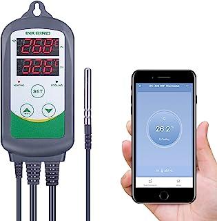 Inkbird ITC-308-WIFI Prise Thermostat Chauffage Refroidissement Regulateur de Temperature,Thermostat Numerique Thermostat ...