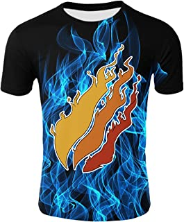 QGYMX Preston Fire Nation Playz Gamer Flame 3D Print T-Shirt Fashion Teengers Boys Girls Top Tees
