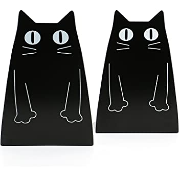 Fasmov Owls Nonskid Bookends Cute Bookends Art Bookends,1 Pair Black OwlsBookends-2pcs