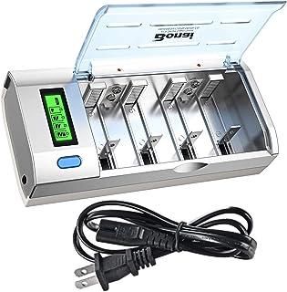 BONAI LCD Universal Battery Charger for AA, AAA, C, D, 9V Ni-MH Ni-CD Rechargeable..