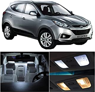 SCITOO 10Pcs White Interior LED Light Package Kit Replacement Bulbs Fits for Hyundai Tucson 2010-2016