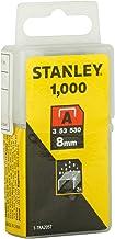 STANLEY 1-TRA205T Graffette Tipo A, 8 mm, Set di 1000 Pezzi