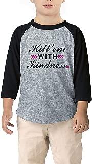 Baby Raglan Tee Toddler Kids Baseball T Shirts Fashion 3/4 Sleeves Jersey Tops 1-8T
