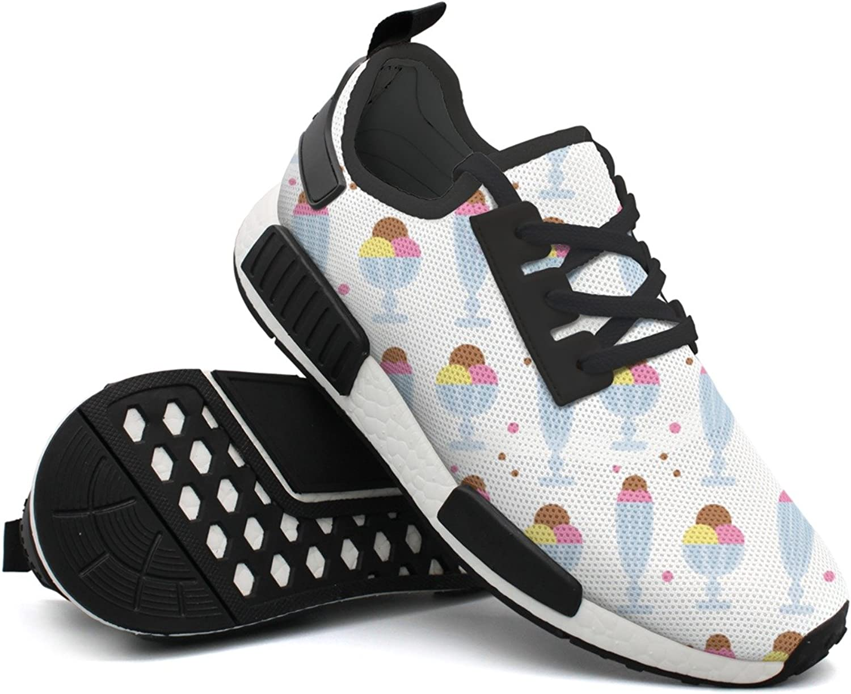 Fashion Sneakers For Men Dessert Ice Cream Designer Lightweight Breathable Mesh Mens Tennis shoes