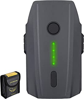 Mavic Pro Battery, Powerextra 11.4V 3830 mAh LiPo Intelligent Flight Battery + Battery Safe Bag Replacement for DJI Mavic ...