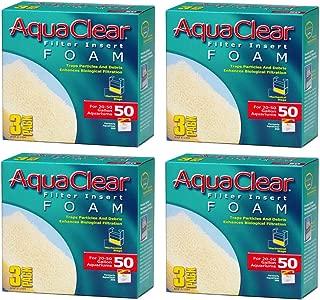 (4 Pack) Aqua Clear Foam Inserts for 50 Gallon Aquariums (3 Ct. Per Pack / 12 Total Inserts)
