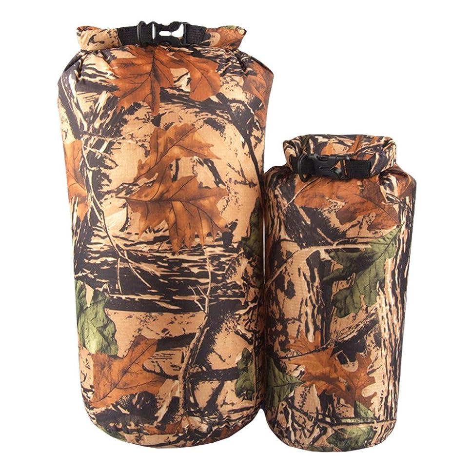 舗装するパラシュート伝染病xinzhi 2ピースキャンプ収納袋、スポーツバックパック迷彩収納袋防水収納袋用ハイキングやキャンプ