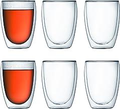 Bodum Pavina–Taza de café, aislado doble, transparente, 354 ml/12oz cada uno (paquete de 6)