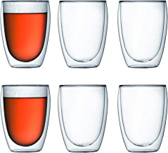 Bodum 4559-10-12US Pavina Double Wall Insulated Glasses, 12 Oz. (6-Pack), Clear