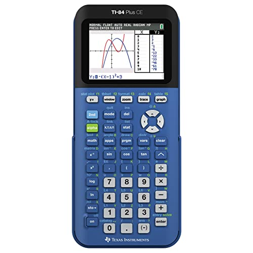 Texas Instruments TI-84 Plus CE Blueberry Graphing Calculator
