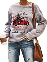 YourTops Women Long Sleeve This is My Christmas Movie Watching Sweater