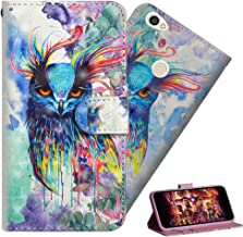 HMTECH Redmi Note 5A case Note 5A Prime case Premium 3D Colorful Painting Wallet Case Folio Flip PU Leather Stand Card Holder Slots Design Protect Cover for Xiaomi Redmi Note 5A Color owl YX