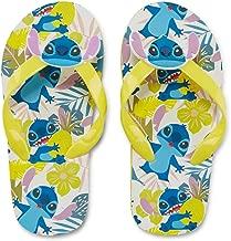 DISNEY COLLECTION Girls Lilo & Stitch Yellow Flip Flop Sandals