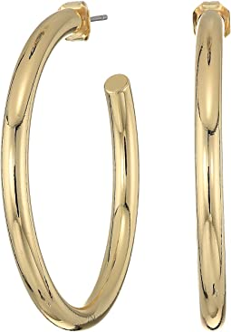French Connection - Large Tube Hoop Earrings