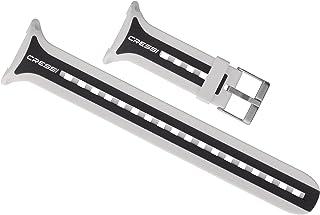 Cressi Leonardoダイビングコンピューターストラップ、オリジナル交換部品、ホワイト/ブラック