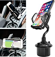 Zylee Cup Phone Holder for Car, Portable Cup Phone Holder Car Mount with Universal Adjustable Gooseneck for iPhone Samsung Galaxy Google Pixel and Almost All Cell Phones (Grey)