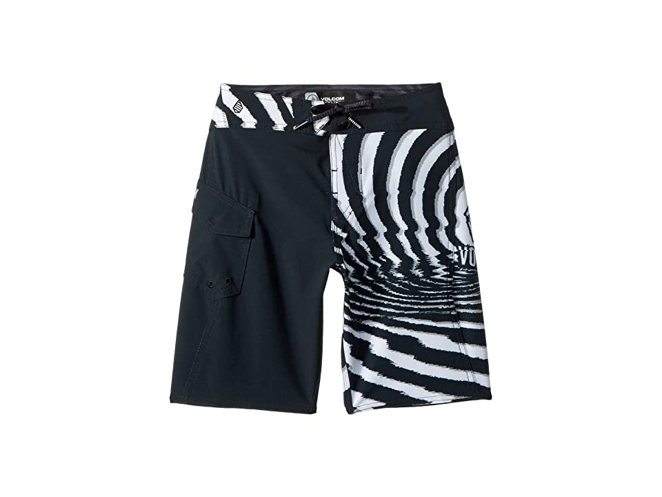 Volcom Kids Lido Block Mod Boardshorts (Big Kids) (New Black) Boy